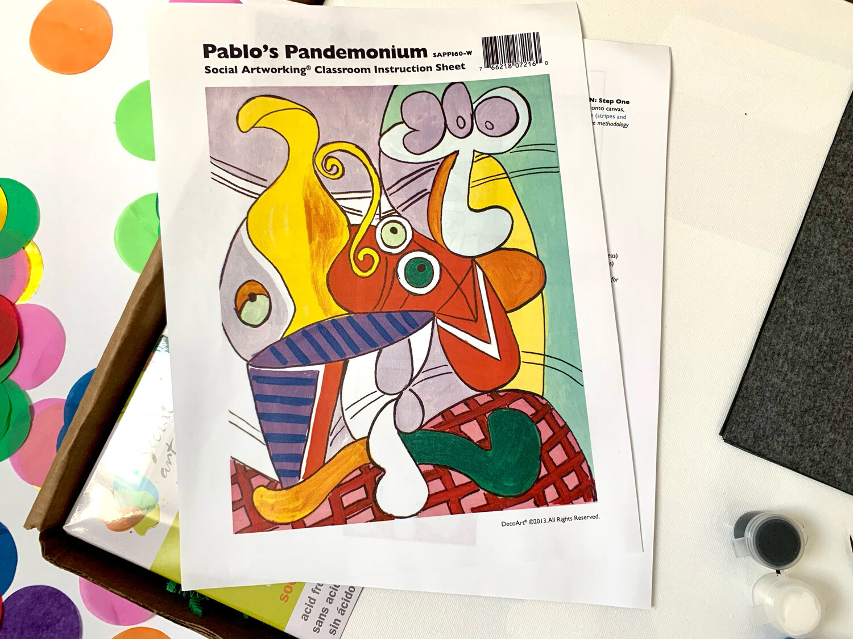 Pablo's Pandemonium ADULT Acrylic Paint On Canvas DIY Art Kit