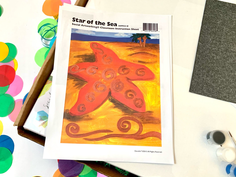 Star of the Sea ADULT Acrylic Paint On Canvas DIY Art Kit
