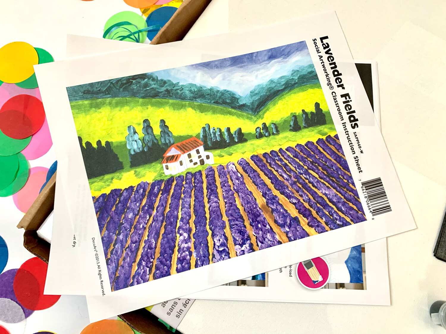 Lavender Fields ADULT Acrylic Paint On Canvas DIY Art Kit