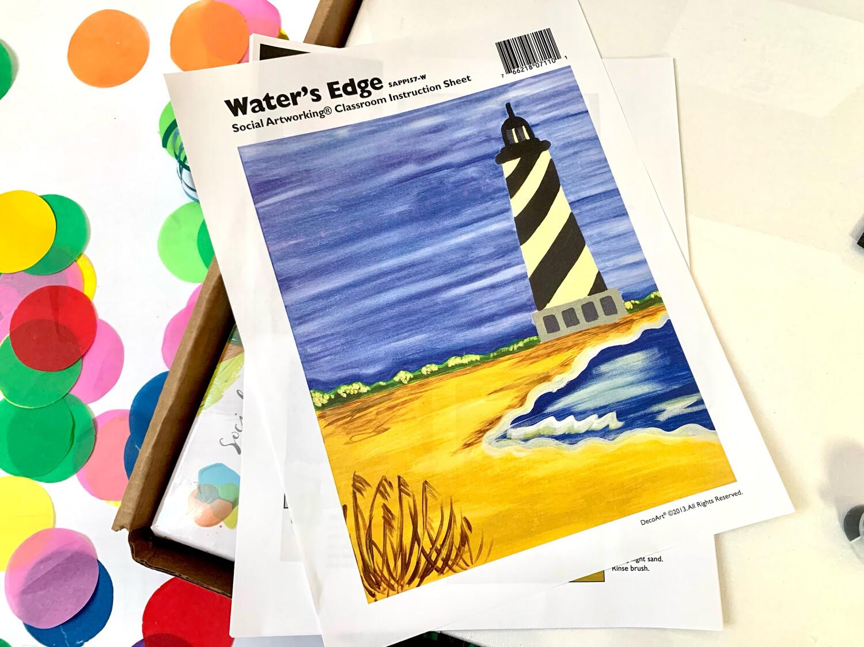 Water's Edge ADULT Acrylic Paint On Canvas DIY Art Kit