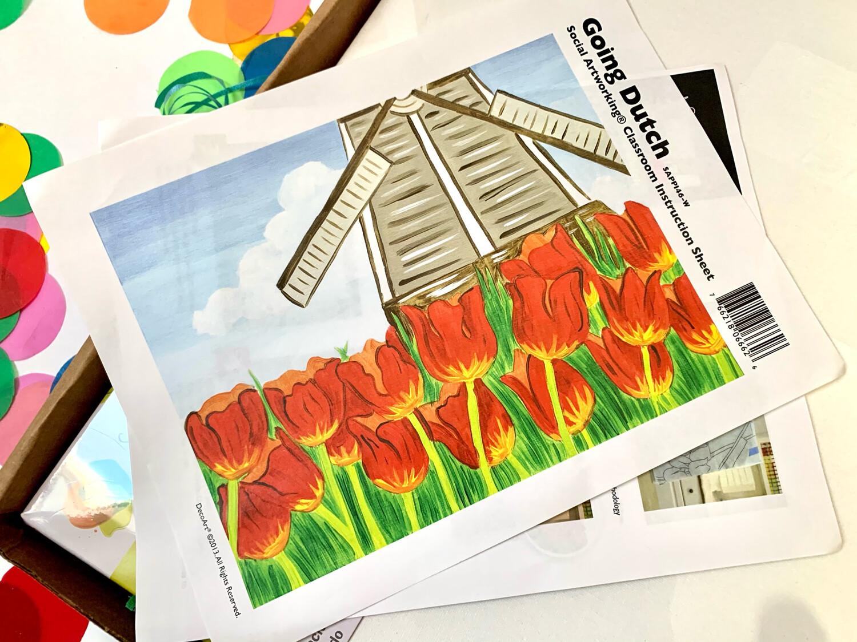 Going Dutch ADULT Acrylic Paint On Canvas DIY Art Kit