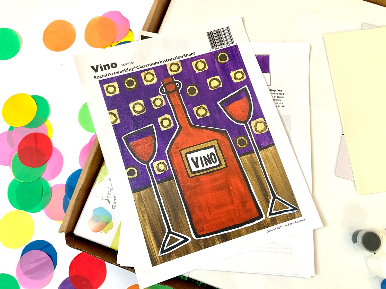 Vino ADULT Acrylic Paint On Canvas DIY Art Kit