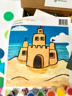 Sandcastle KIDS Acrylic Paint On Canvas DIY Art Kit