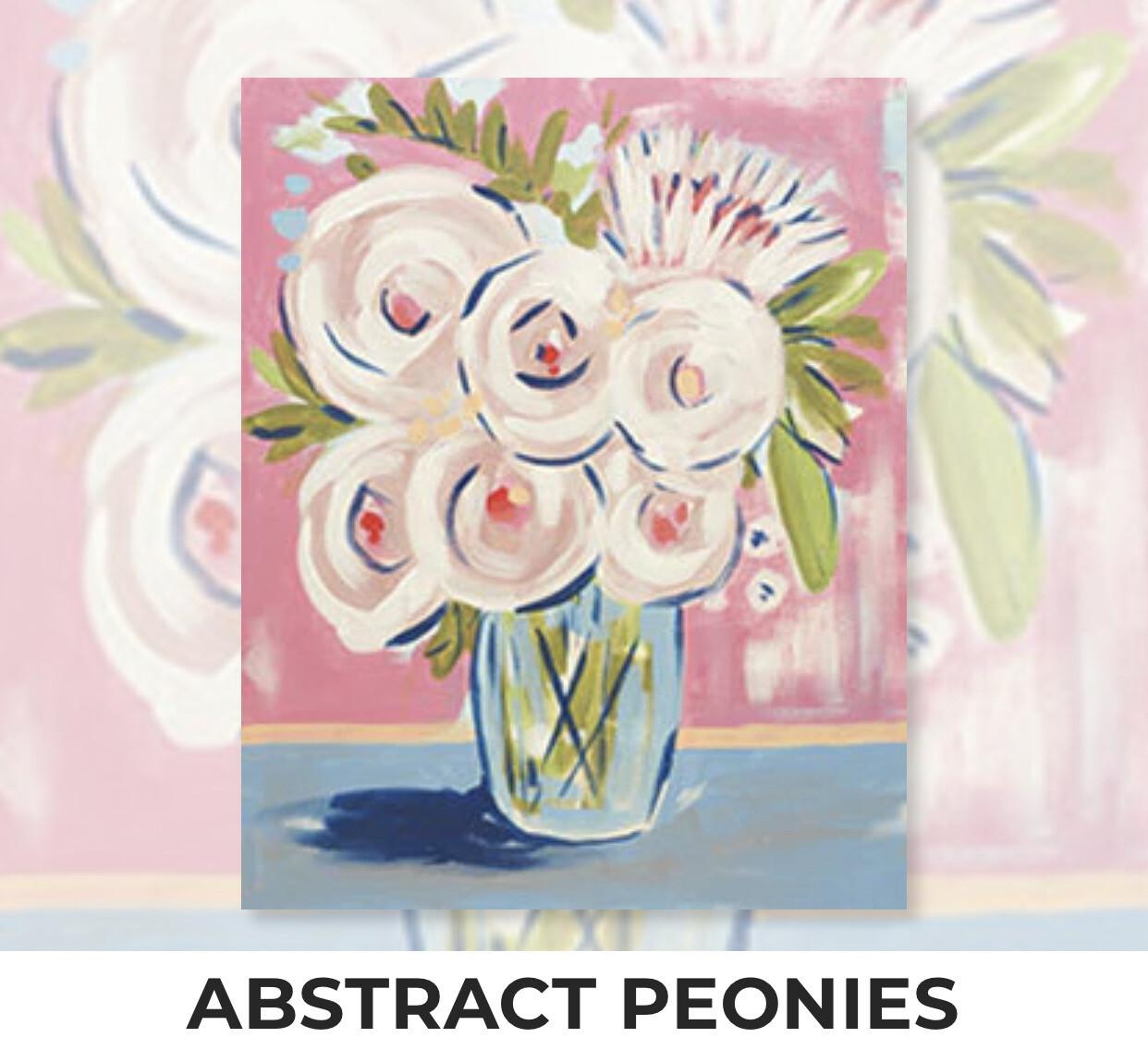 Abstract Peonies ADULT Acrylic Paint On Canvas DIY Art Kit
