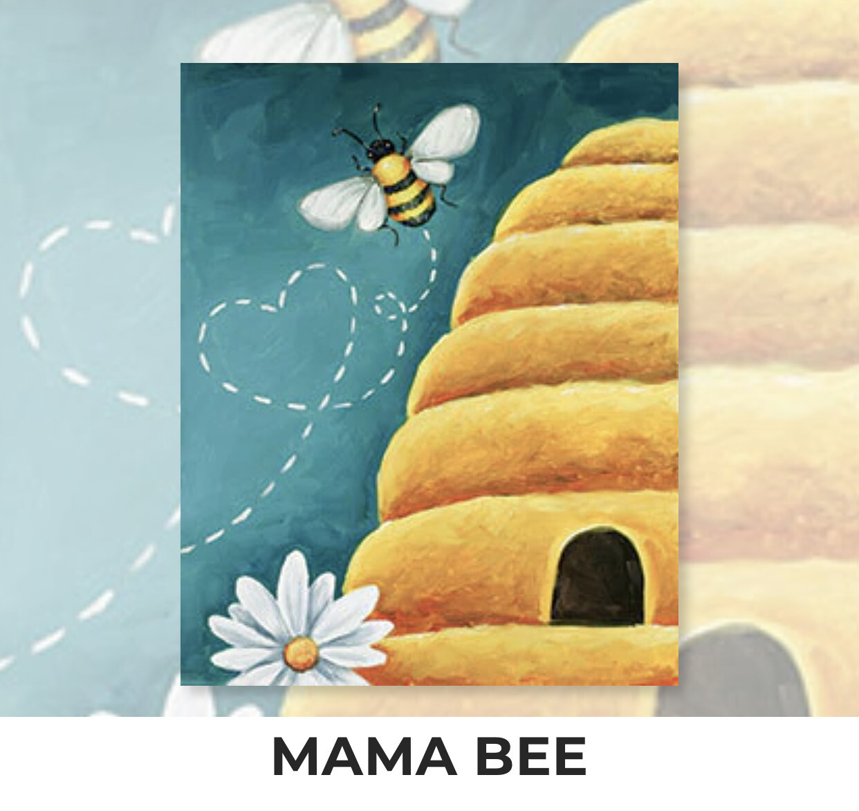 Mama Bee ADULT Acrylic Paint On Canvas DIY Art Kit - 3 Week Special Order