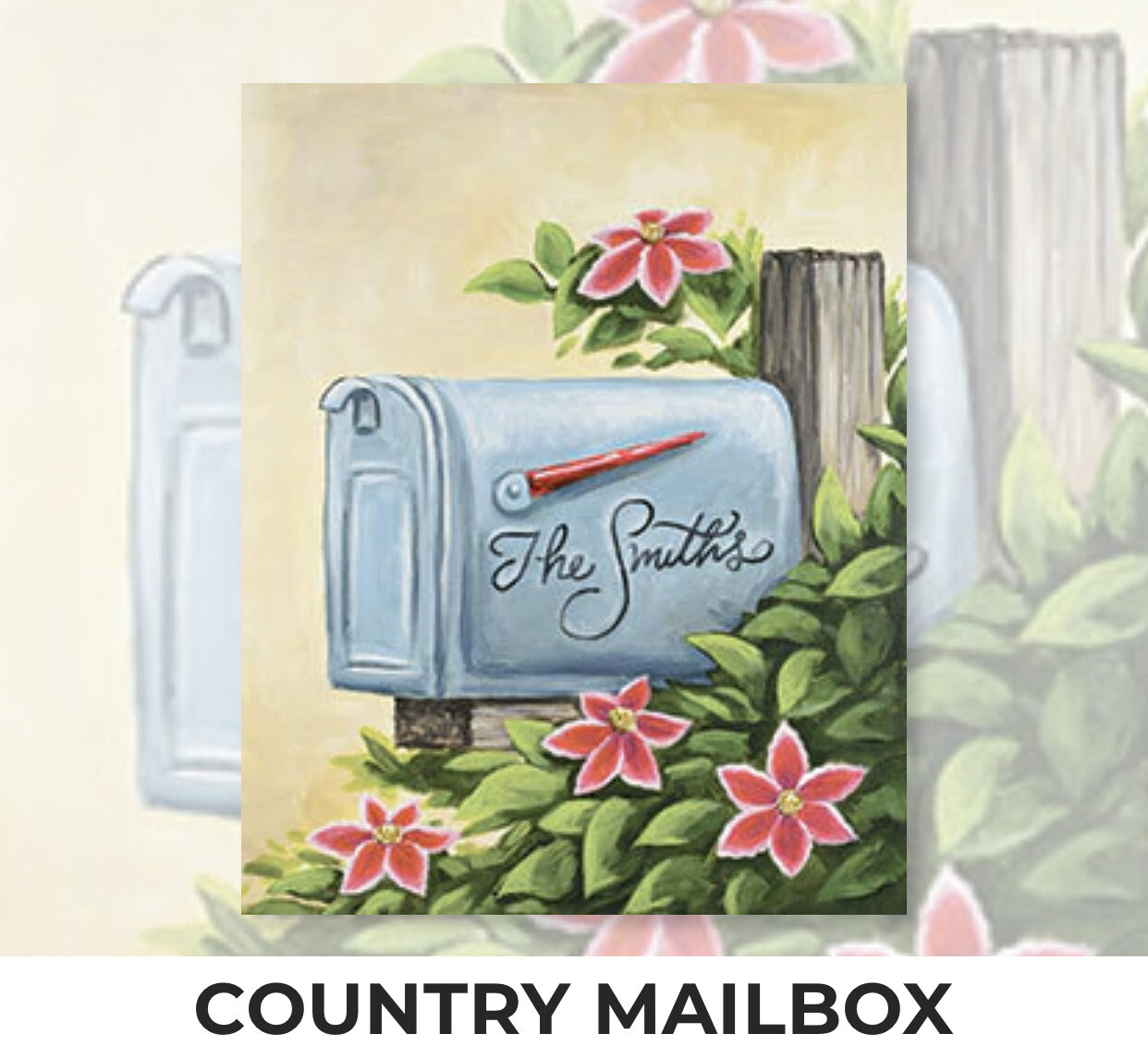Country Mailbox ADULT Acrylic Paint On Canvas DIY Art Kit - 3 Week Special Order