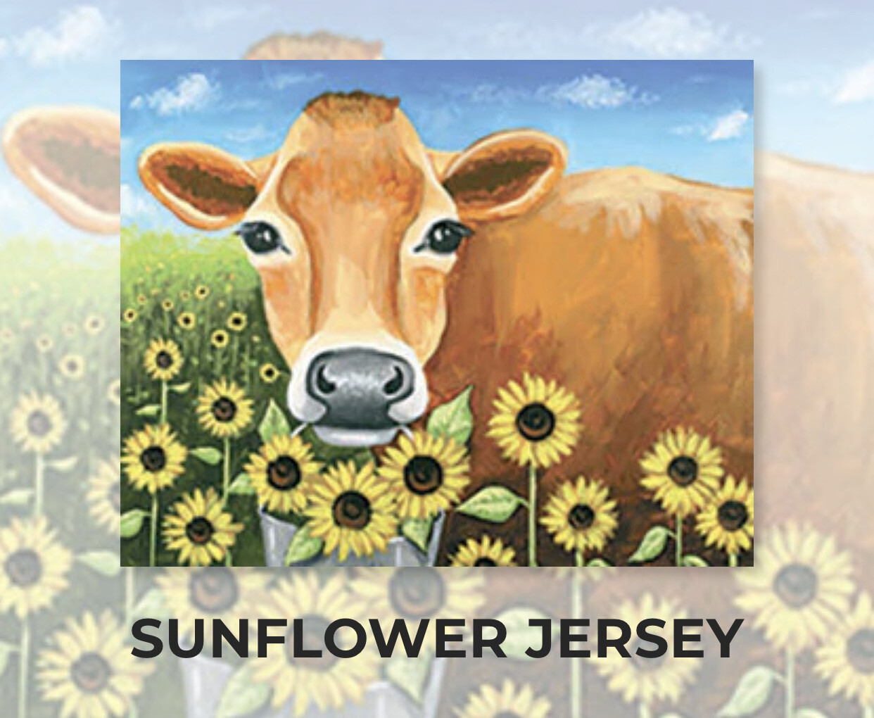 Sunflower Jersey ADULT Acrylic Paint On Canvas DIY Art Kit - 3 Week Special Order