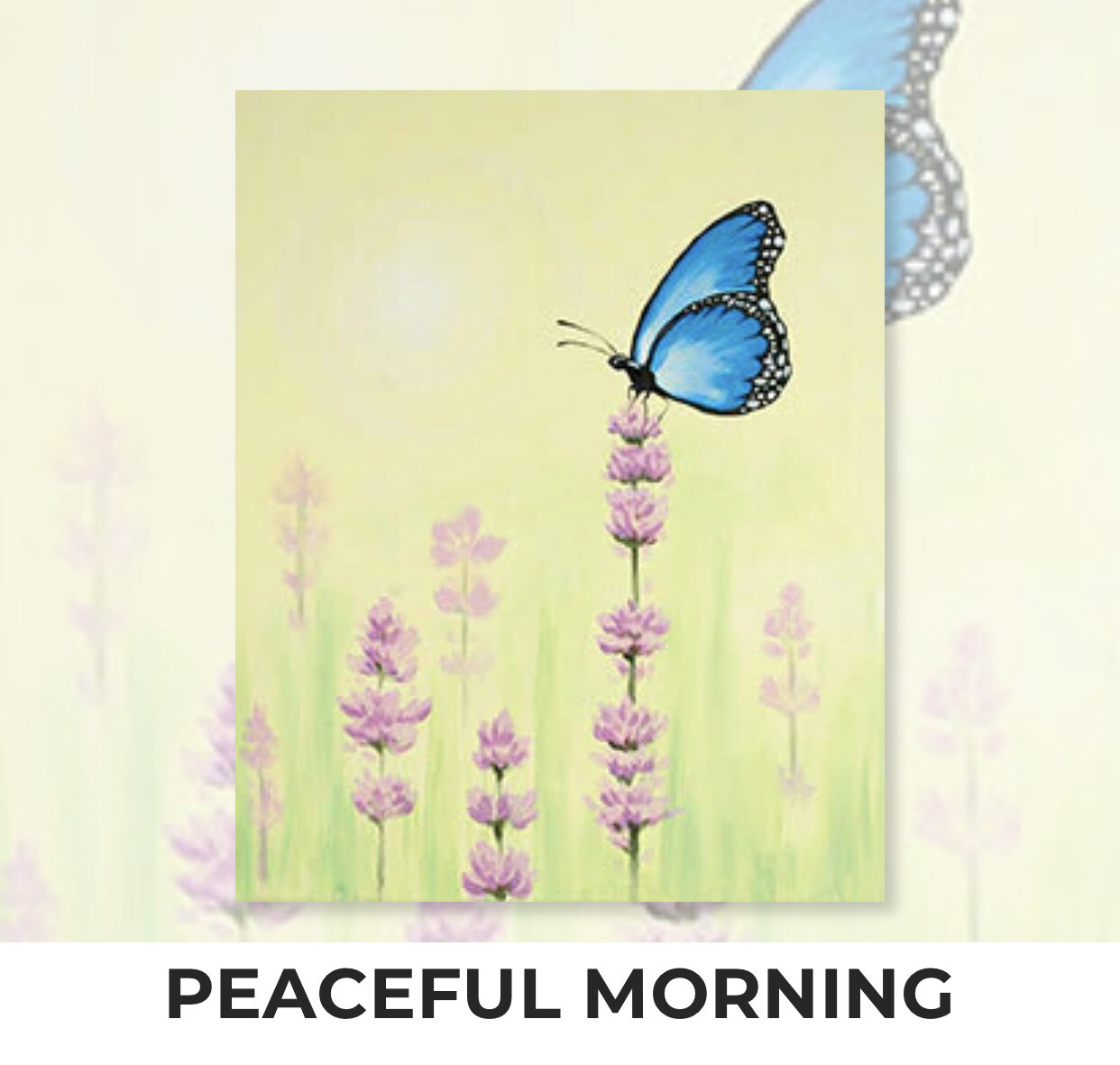 Peaceful Morning ADULT Acrylic Paint On Canvas DIY Art Kit - 3 Week Special Order