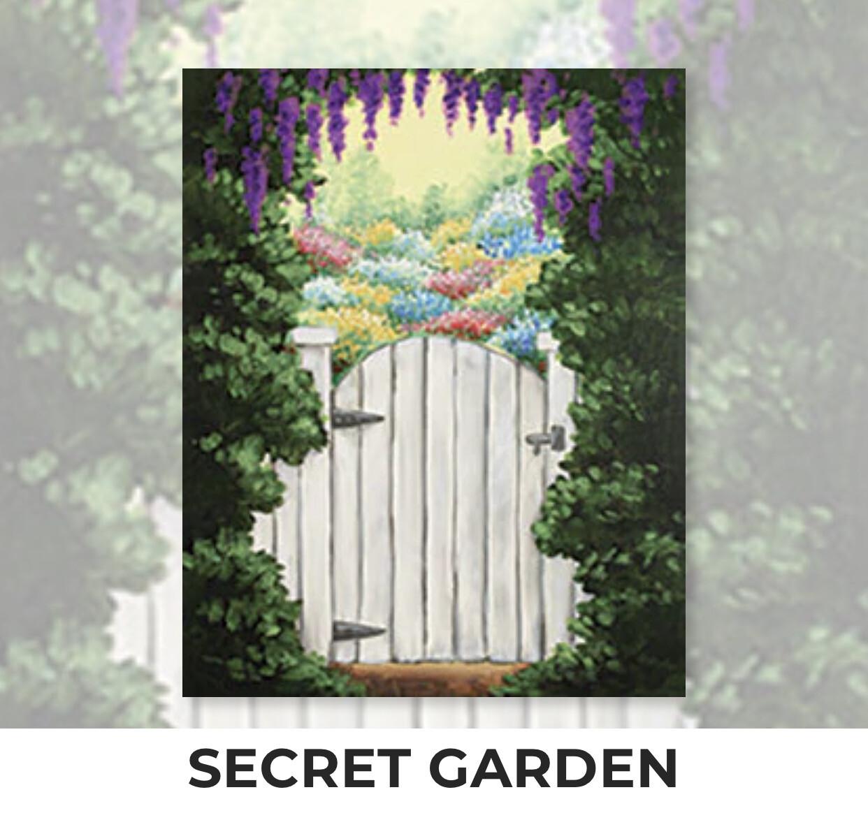 Secret Garden ADULT Acrylic Paint On Canvas DIY Art Kit - 3 Week Special Order