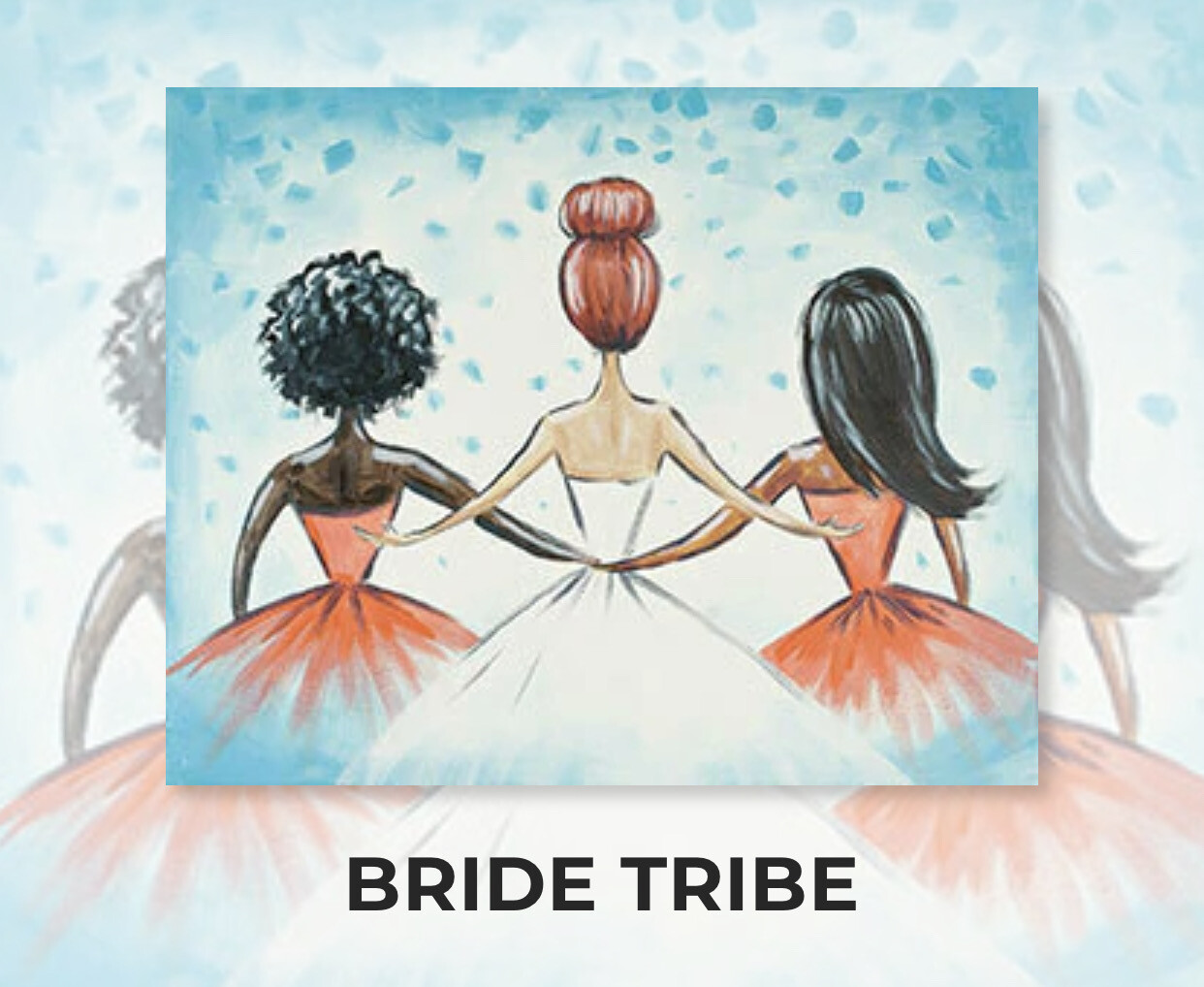 Bride Tribe ADULT Acrylic Paint On Canvas DIY Art Kit - 3 Week Special Order