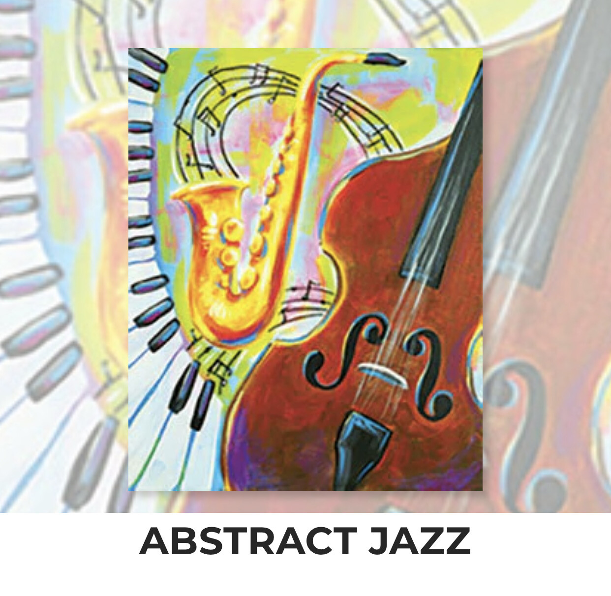 Abstract Jazz ADULT Acrylic Paint On Canvas DIY Art Kit - 3 Week Special Order
