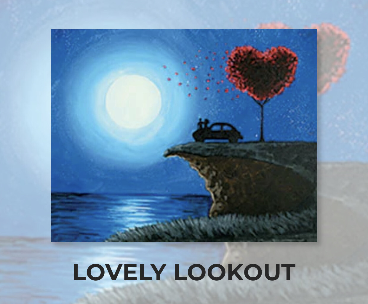 Lovely Lookout ADULT Acrylic Paint On Canvas DIY Art Kit - 3 Week Special Order