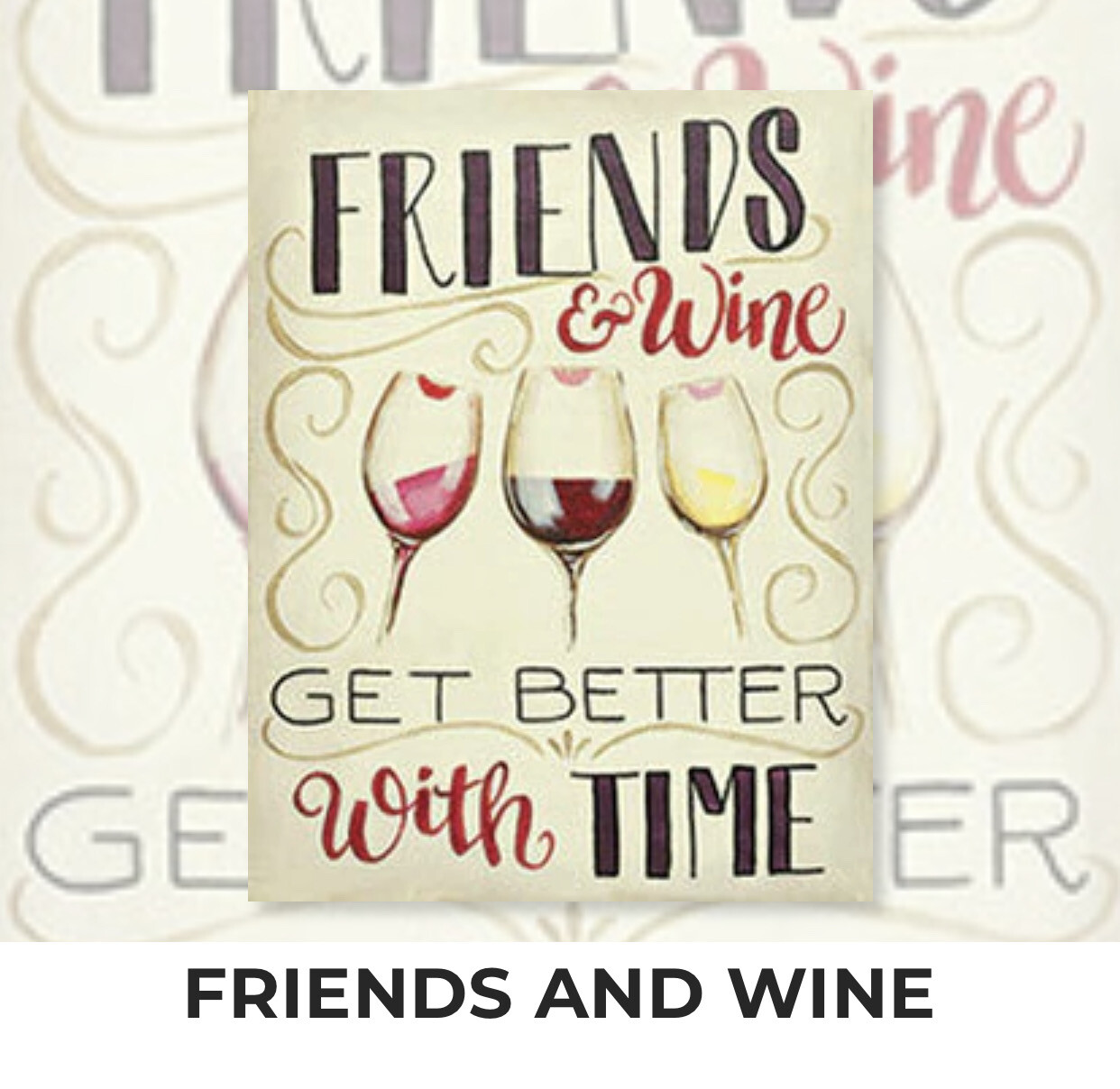 Friends And Wine ADULT Acrylic Paint On Canvas DIY Art Kit - 3 Week Special Order