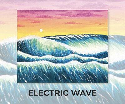 Electric Wave ADULT Acrylic Paint On Canvas DIY Art Kit - 3 Week Special Order