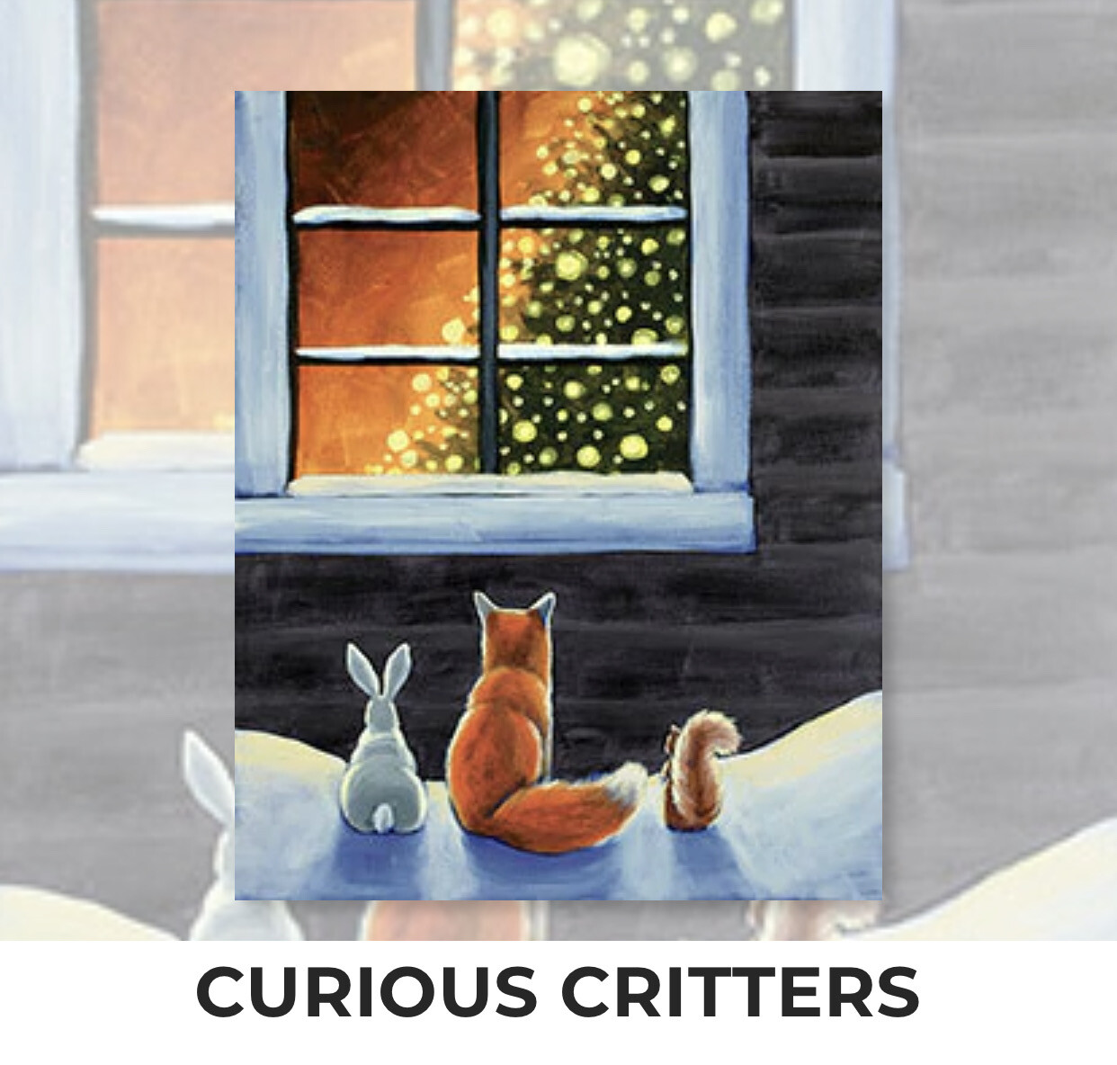 Curious Critters ADULT Acrylic Paint On Canvas DIY Art Kit - 3 Week Special Order