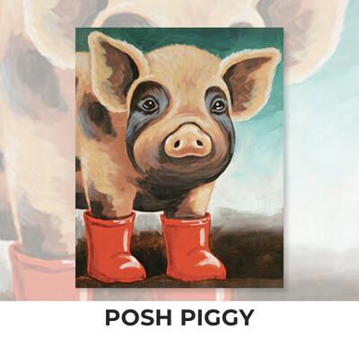 ADULT Acrylic Paint On Canvas DIY Art Kit - Posh Piggy