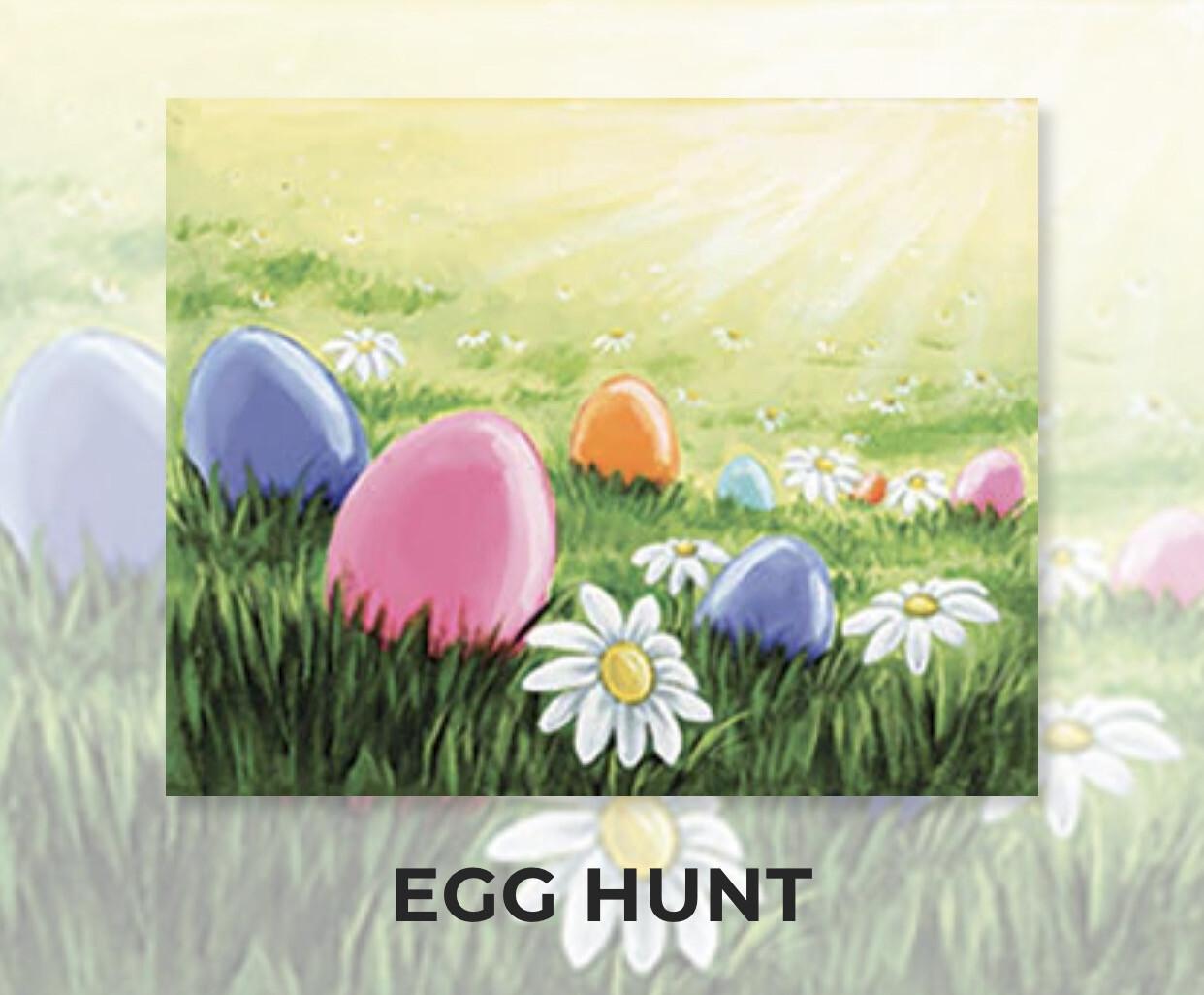 Egg Hunt ADULT Acrylic Paint On Canvas DIY Art Kit - 3 Week Special Order