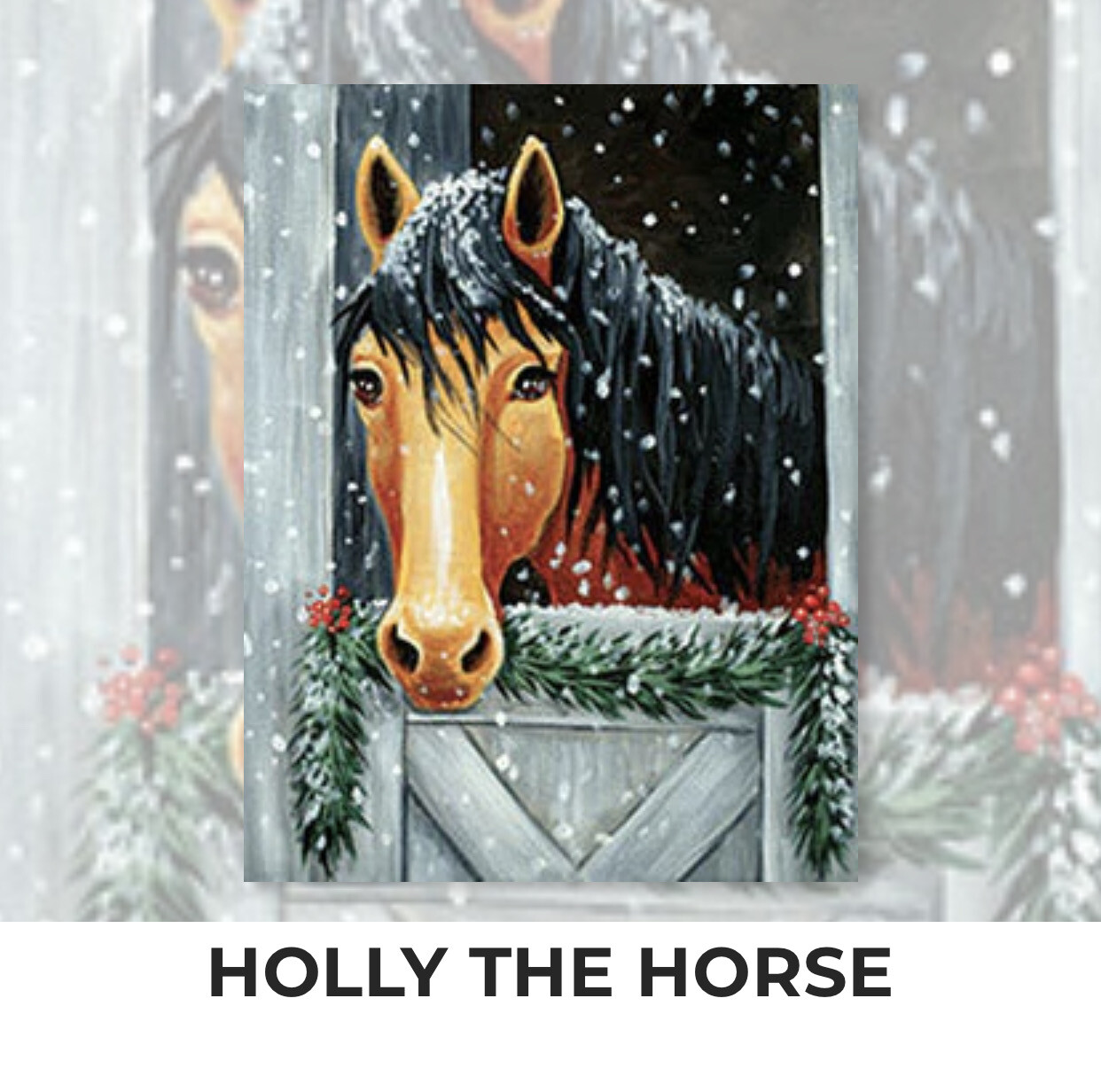 Holly The Horse ADULT Acrylic Paint On Canvas DIY Art Kit - 3 Week Special Order