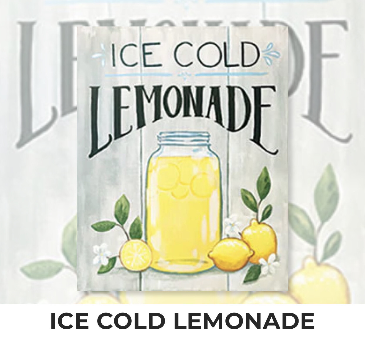 Ice Cold Lemonade ADULT Acrylic Paint On Canvas DIY Art Kit - 3 Week Special Order