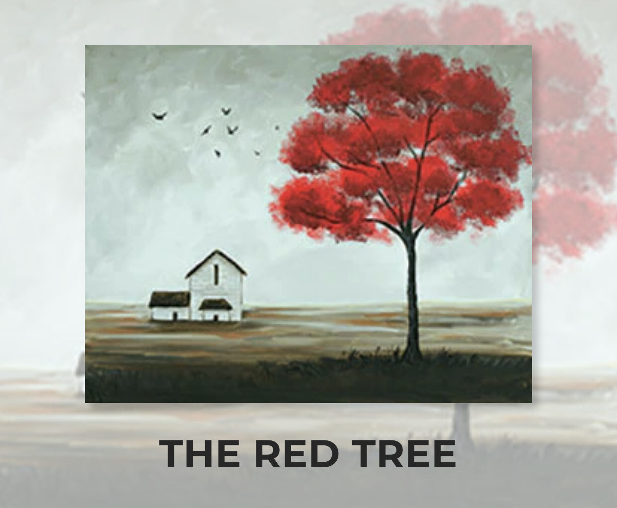 The Red Tree ADULT Acrylic Paint On Canvas DIY Art Kit - 3 Week Special Order