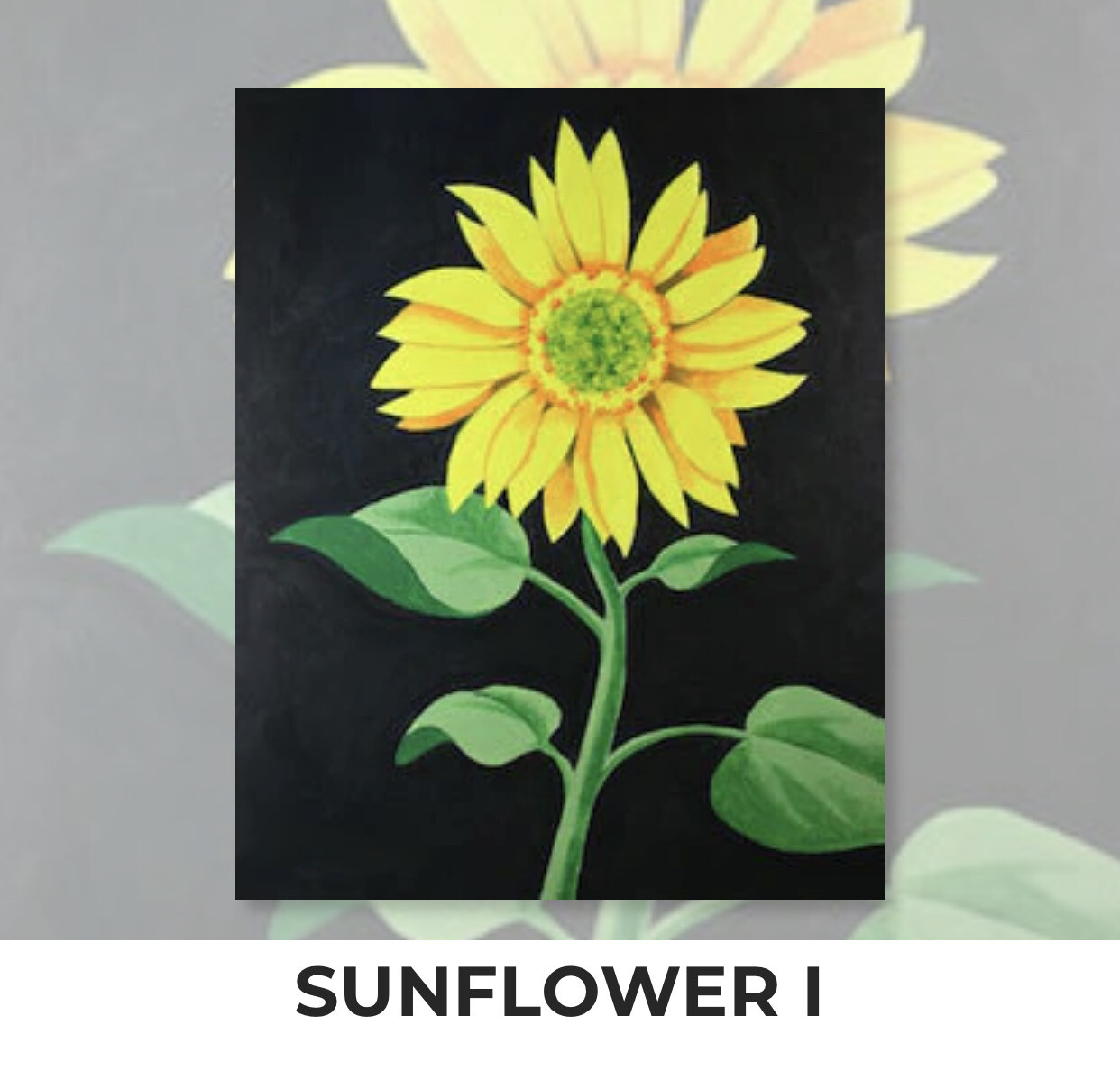Sunflower I ADULT Acrylic Paint On Canvas DIY Art Kit - 3 Week Special Order
