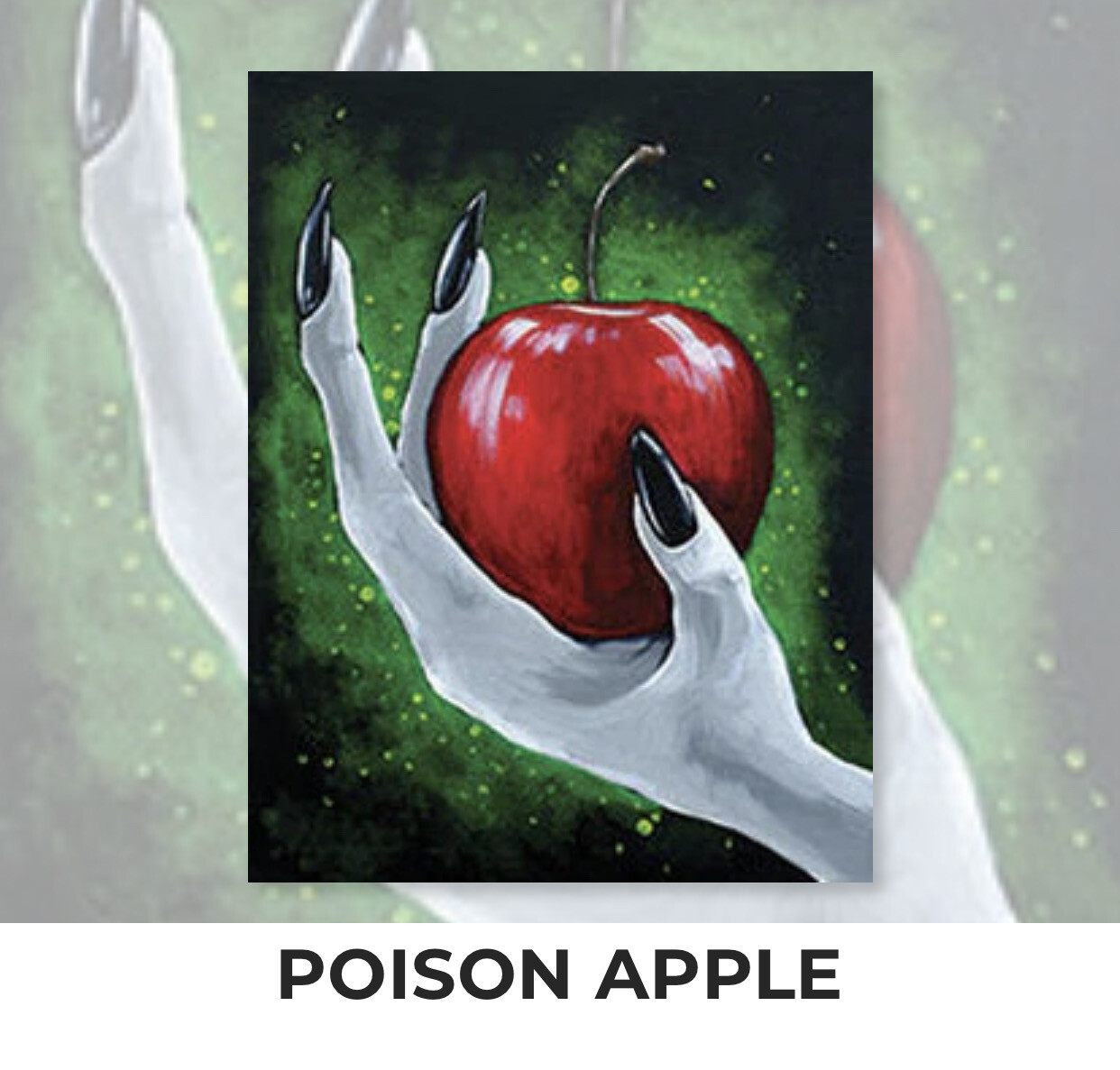 Poison Apple ADULT Acrylic Paint On Canvas DIY Art Kit - 3 Week Special Order