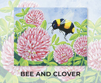 Bee And Clover ADULT Acrylic Paint On Canvas DIY Art Kit - 3 Week Special Order