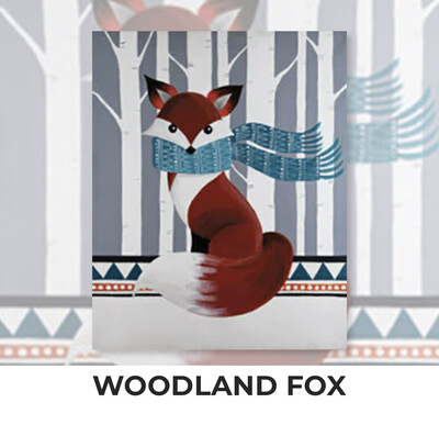 Woodland Fox ADULT Acrylic Paint On Canvas DIY Art Kit - 3 Week Special Order