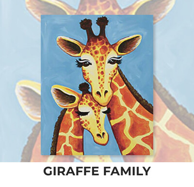 Giraffe Family ADULT Acrylic Paint On Canvas DIY Art Kit - 3 Week Special Order