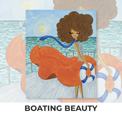 Boating Beauty ADULT Acrylic Paint On Canvas DIY Art Kit - 3 Week Special Order