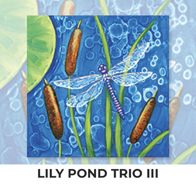 Lily Pond Trio III ADULT OR TWEEN Acrylic Paint On Canvas DIY Art Kit - 3 Week Special Order