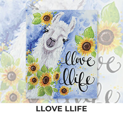 Llove Llife - Llama ADULT Acrylic Paint On Canvas DIY Art Kit - 3 Week Special Order