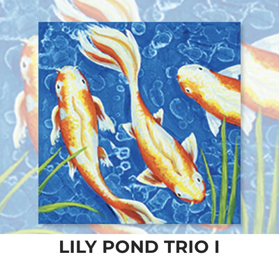 Lily Pond Trio I ADULT OR TWEEN Acrylic Paint On Canvas DIY Art Kit - 3 Week Special Order