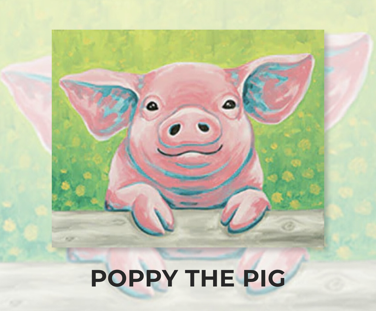 Poppy The Pig ADULT Acrylic Paint On Canvas DIY Art Kit - 3 Week Special Order