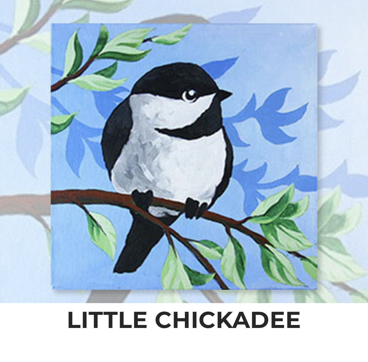 Little Chickadee ADULT OR TWEEN Acrylic Paint On Canvas DIY Art Kit - 3 Week Special Order