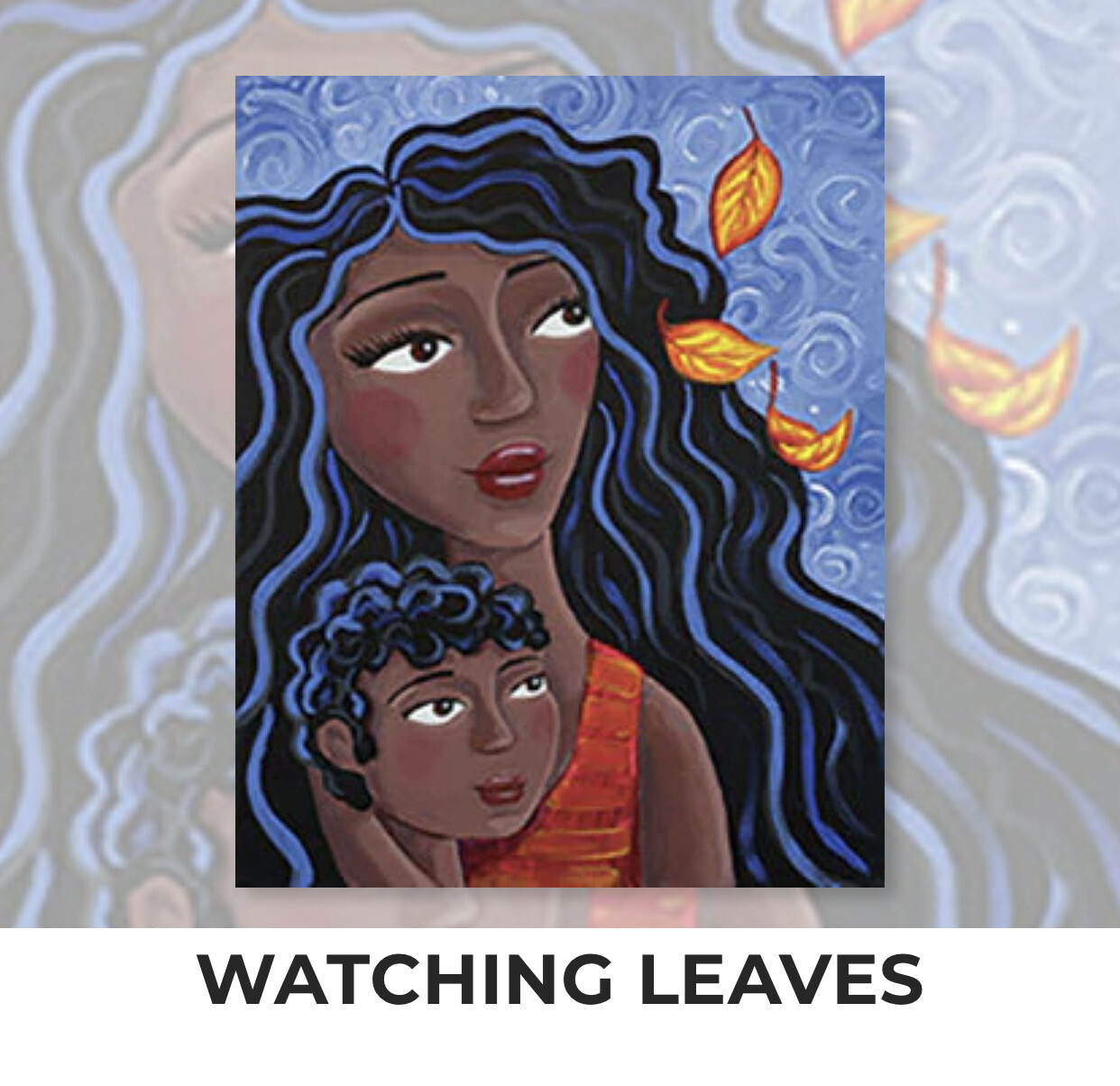 Watching Leaves ADULT Acrylic Paint On Canvas DIY Art Kit - 3 Week Special Order
