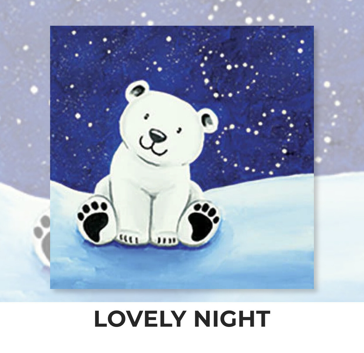 Lovely Night KIDS Acrylic Paint On Canvas DIY Art Kit - 3 Week Special Order