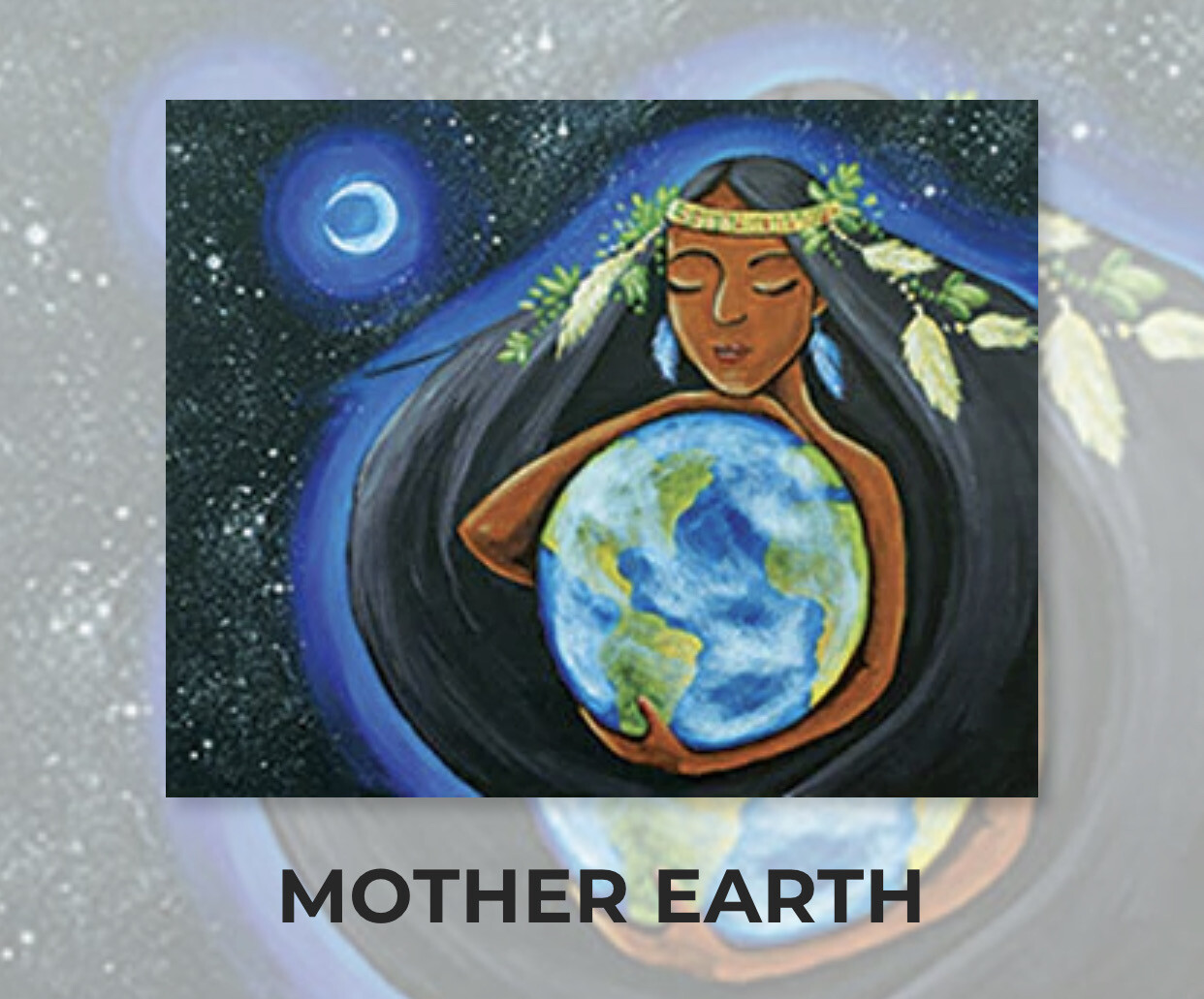Mother Earth ADULT Acrylic Paint On Canvas DIY Art Kit - 3 Week Special Order