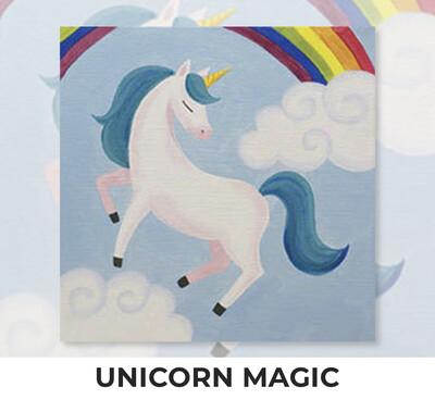 Unicorn Magic KIDS Acrylic Paint On Canvas DIY Art Kit - 3 Week Special Order