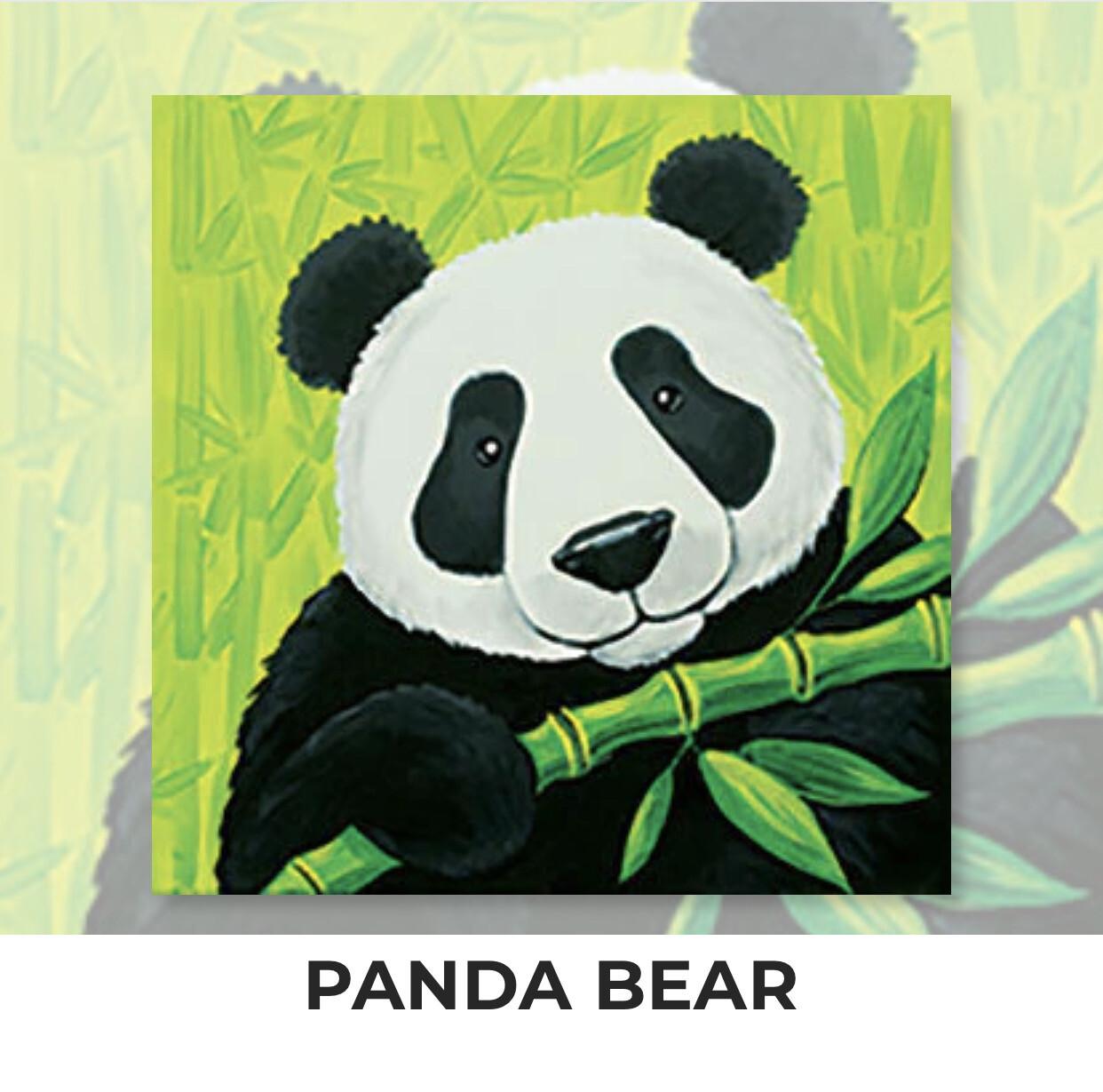 Panda Bear KIDS Acrylic Paint On Canvas DIY Art Kit