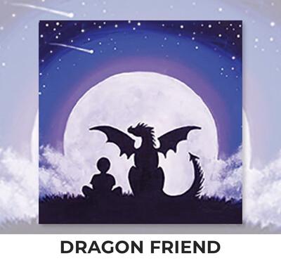 Dragon Friend KIDS Acrylic Paint On Canvas DIY Art Kit