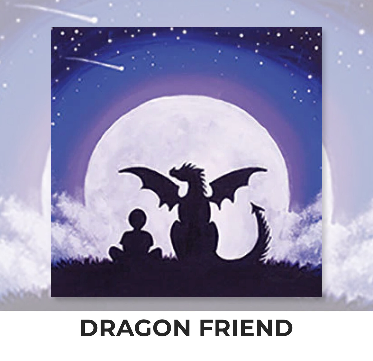 Dragon Friend KIDS Acrylic Paint On Canvas DIY Art Kit