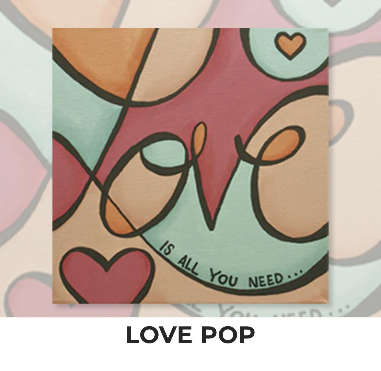 Love Pop KIDS Acrylic Paint On Canvas DIY Art Kit