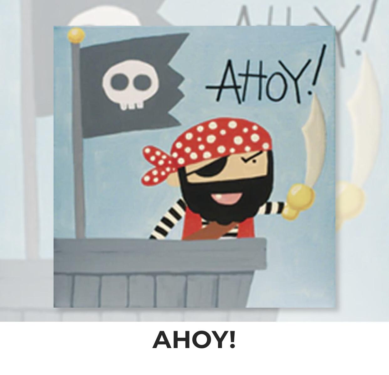 Ahoy! Pirate KIDS Acrylic Paint On Canvas DIY Art Kit