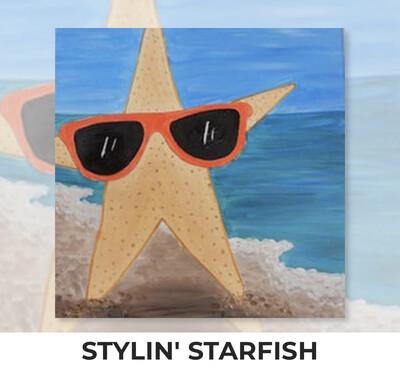 Stylin' Starfish KIDS Acrylic Paint On Canvas DIY Art Kit
