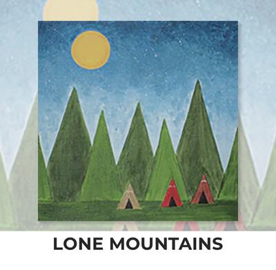 Lone Mountains KIDS Acrylic Paint On Canvas DIY Art Kit