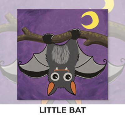 Little Bat KIDS Acrylic Paint On Canvas DIY Art Kit - 3 Week Special Order