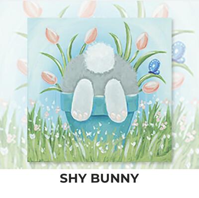 Shy Bunny KIDS Acrylic Paint On Canvas DIY Art Kit - 3 Week Special Order