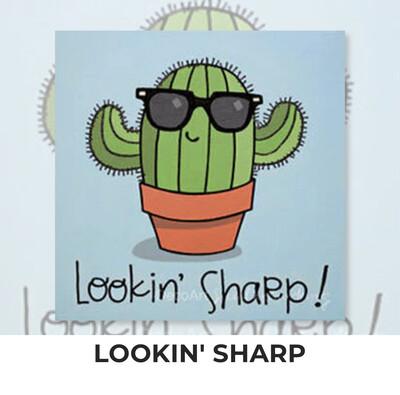 Lookin' Sharp - Cactus KIDS Acrylic Paint On Canvas DIY Art Kit - 3 Week Special Order