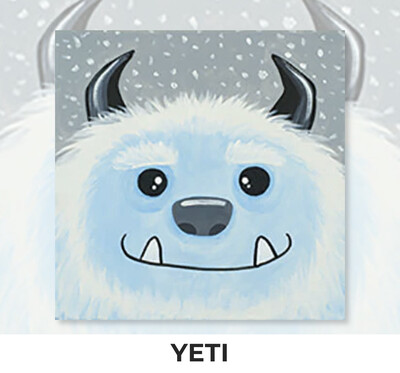 Yeti KIDS Acrylic Paint On Canvas DIY Art Kit - 3 Week Special Order